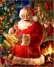 Load image into Gallery viewer, Santa Recording Wishes - Paint by numbers