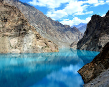 Load image into Gallery viewer, Attabad lake - Hunza Valley - Paint By Number Kit