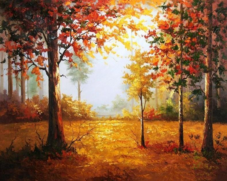 Autumn Forest DIY Painting - All Paint by numbers