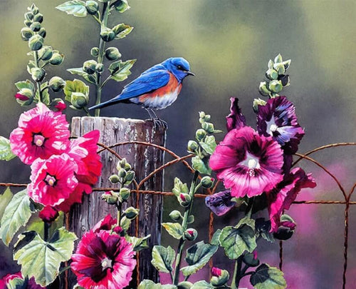 Bird in the Flower Garden - All Paint by numbers
