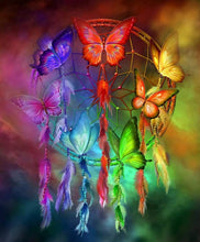 Load image into Gallery viewer, Butterfly Dream Catcher DIY Painting