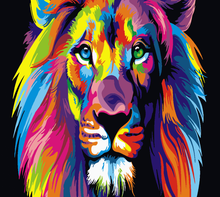 Load image into Gallery viewer, Colorful Lion Paint by Numbers