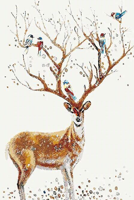Deer Head Tree DIY Painting Kit