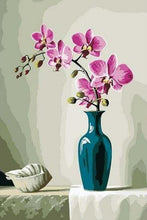 Load image into Gallery viewer, Elegant Pink Flowers - Paint by Numbers