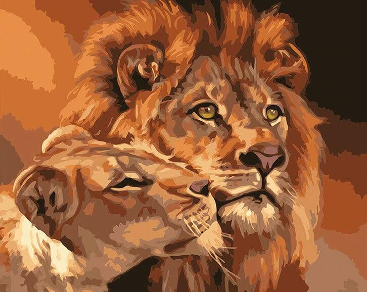 Lion & Lioness in Love