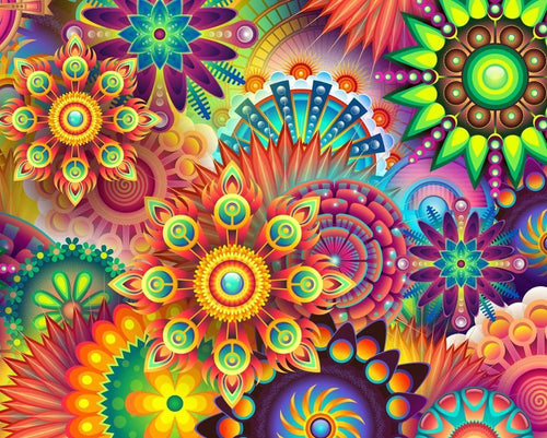 Mandala Art - Paint By Numbers Kit