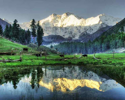 Nanga Parbat Heart Soothing View - Pakistan Paint By Number