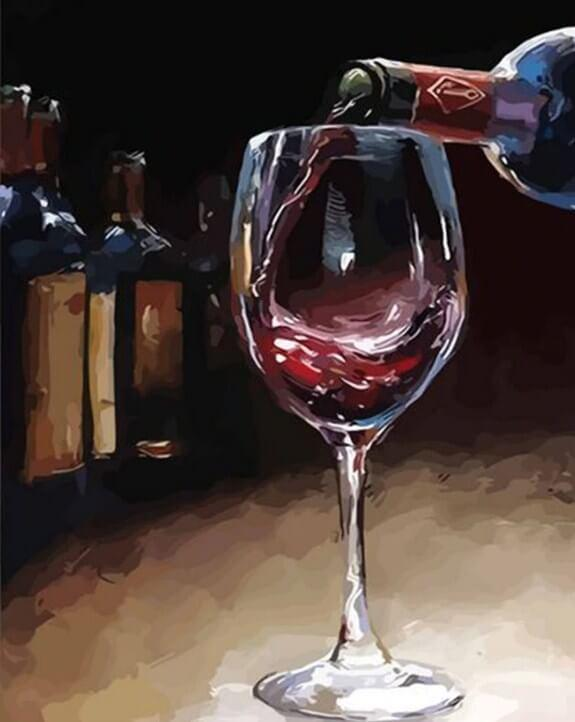 Red Wine Paint by Numbers