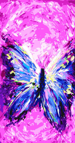 Abstract Butterfly Painting Kit for Adults - All Paint by numbers
