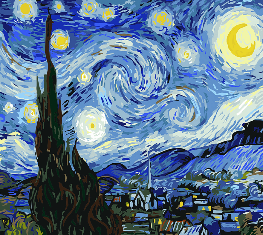 Van Gogh Starry Night Painting Kit