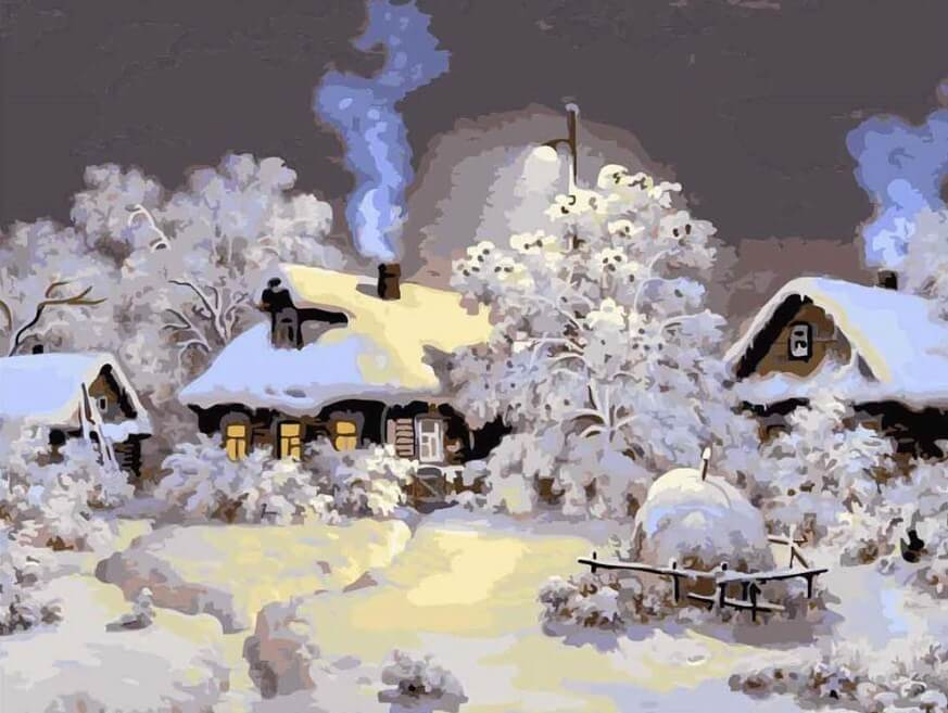 Winter Landscape - Paint by Numbers