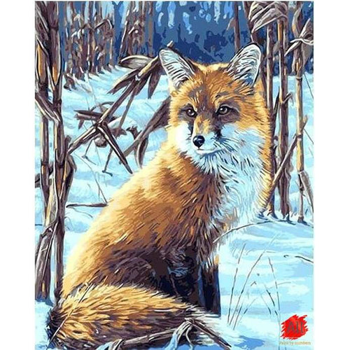 fox paint by number