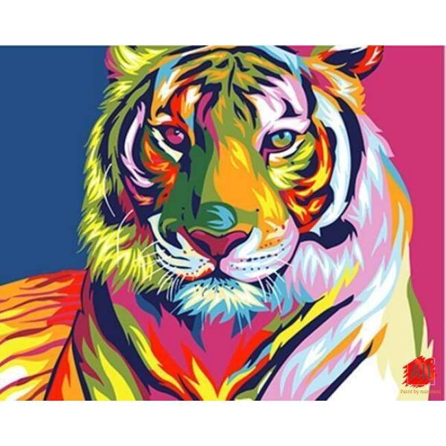 tiger paint by number