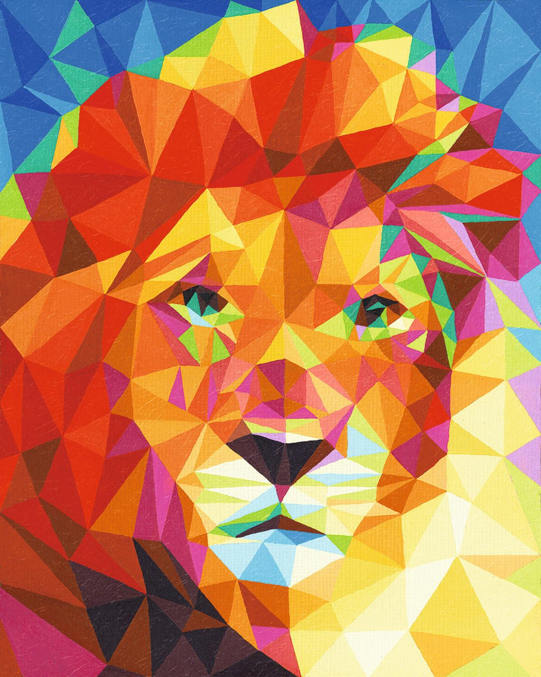 Lion Polygon Art
