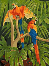 Load image into Gallery viewer, Macaw Parrots in Jungle - All Paint by numbers
