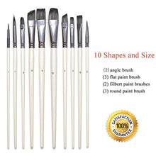 Load image into Gallery viewer, 10 Pcs Paint Brushes Set - All Paint by numbers