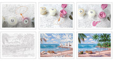 Load image into Gallery viewer, Town on the Beach and Boats Paint by Number Kit for Adults - All Paint by numbers