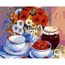 Load image into Gallery viewer, Cups Jar and Flowers Vase - All Paint by numbers