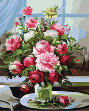 Load image into Gallery viewer, 24 Framed and unframed Flowers Paintings - All Paint by numbers