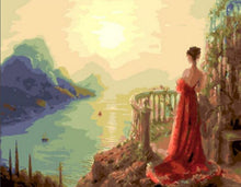 Load image into Gallery viewer, A Princess Standing Lonely - All Paint by numbers