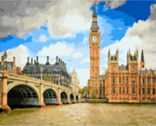 Load image into Gallery viewer, A Cloudy London Landscape - All Paint by numbers