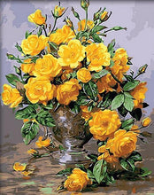 Load image into Gallery viewer, Yellow Flowers DIY Painting - All Paint by numbers