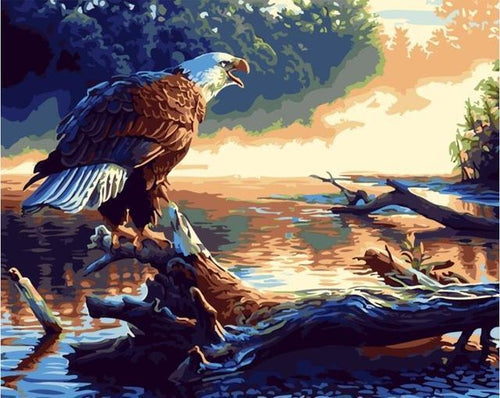 Adorable Eagle - Paint it and Hang it in Your House - All Paint by numbers
