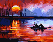 Load image into Gallery viewer, sunset painting by numbers adul