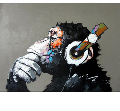 Chimpanzee Painting Art - Painting by Numbers - All Paint by numbers