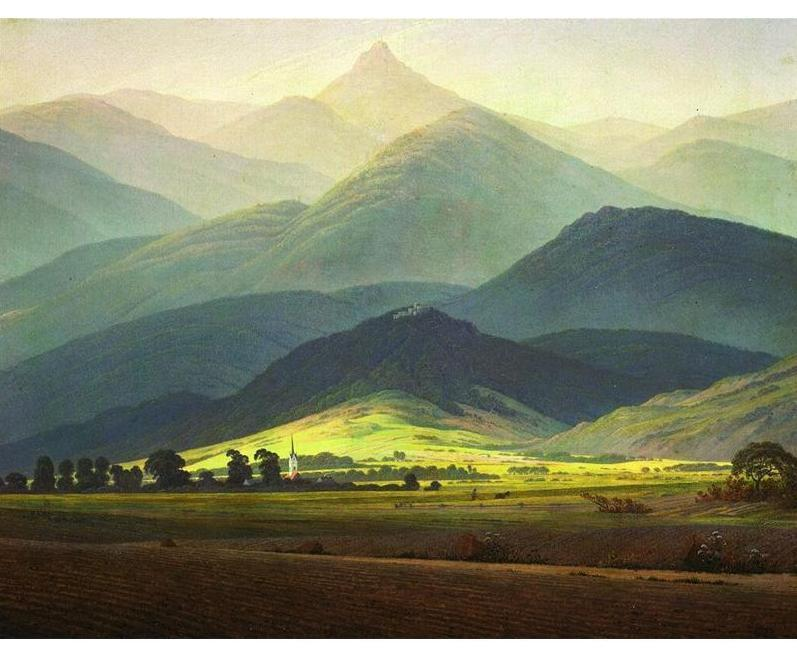 Mountain Meadows Landscape Painting - All Paint by numbers
