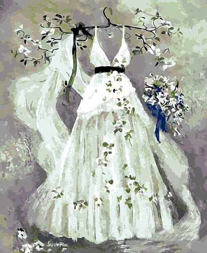 Wedding Dress Painting - All Paint by numbers