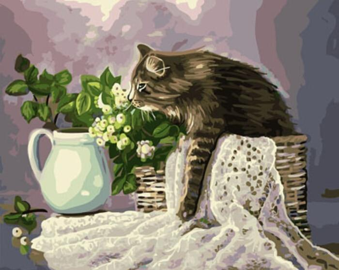 A  Cat in a Basket - All Paint by numbers