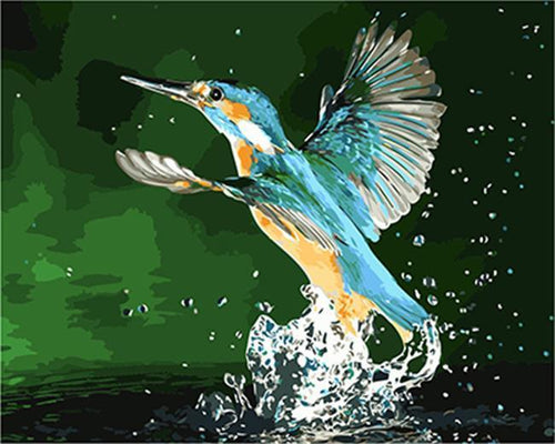 A Splashy Bird - All Paint by numbers