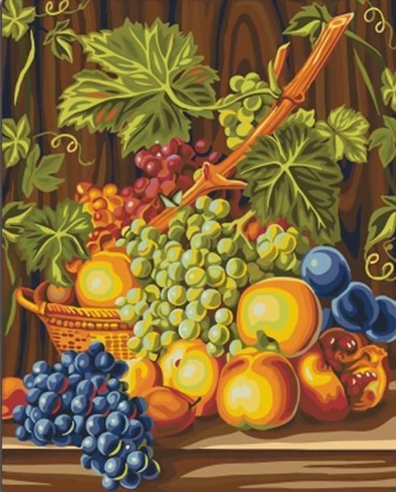 A Fruit Basket - All Paint by numbers