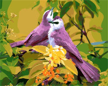 Load image into Gallery viewer, Purple Birds on Yellow Flowers