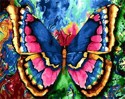 A colorful Butterfly - All Paint by numbers