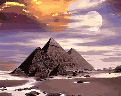 Pyramids and Desert - All Paint by numbers