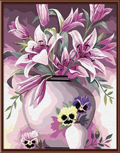 Load image into Gallery viewer, A Vase with Pink Flowers - All Paint by numbers