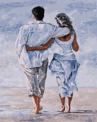 A Couple on the Beach - All Paint by numbers