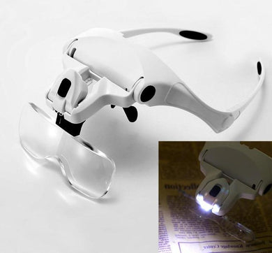 Adjustable  LED Light Headband Magnifier Glass - All Paint by numbers