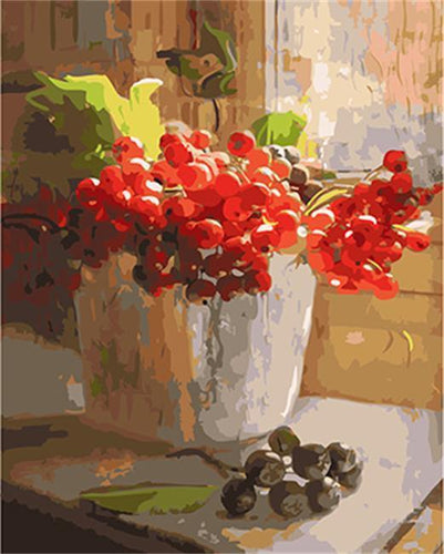 Still Life Berries Painting - All Paint by numbers