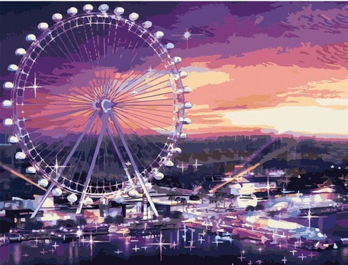 Spin Wheel & Purple Sky - All Paint by numbers