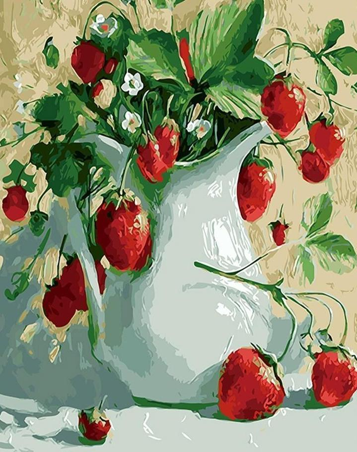 Pot full of Strawberries - All Paint by numbers
