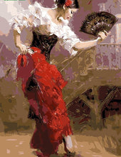 Load image into Gallery viewer, A Girl dancing holding a Fan - All Paint by numbers