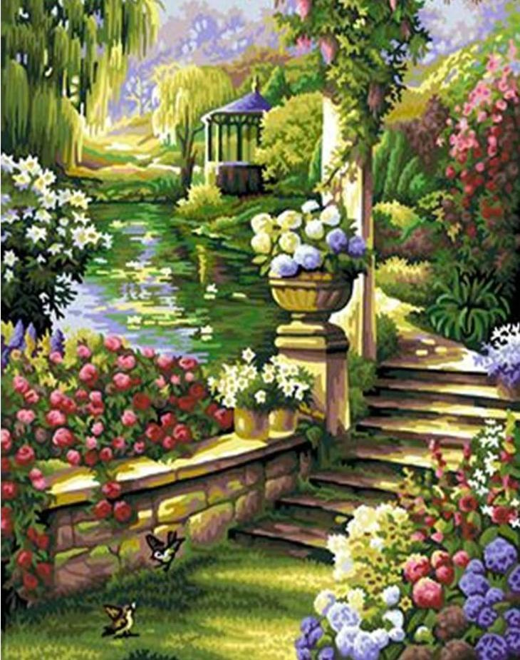 Stairs to Garden - All Paint by numbers