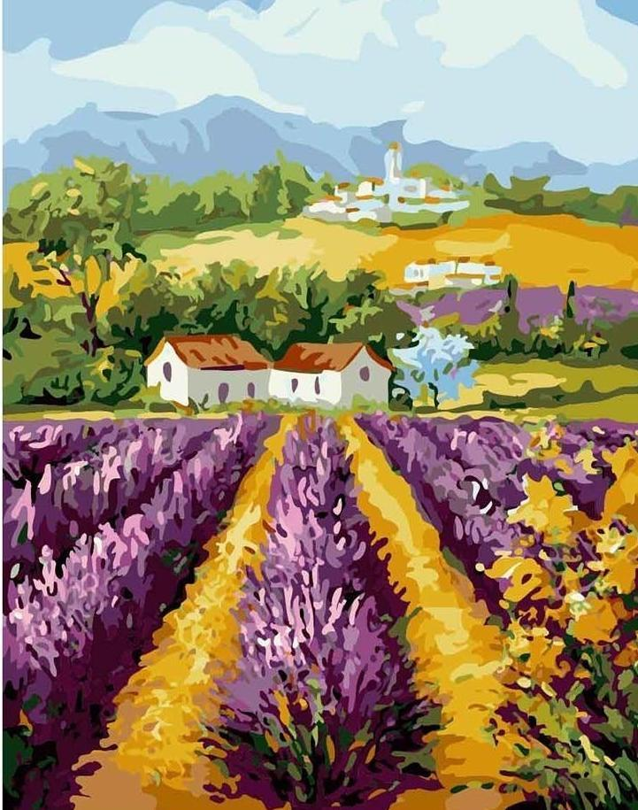 Farm House and Purple Farm - All Paint by numbers