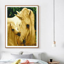 Load image into Gallery viewer, A unicorn with her baby - All Paint by numbers