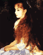 Load image into Gallery viewer, Girl Sitting with Open Hair - All Paint by numbers