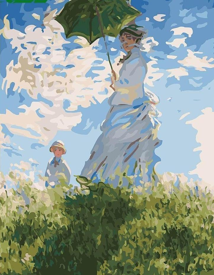 Madame Monet & her Son - All Paint by numbers