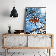 Load image into Gallery viewer, Winter, Snow & Deer - All Paint by numbers
